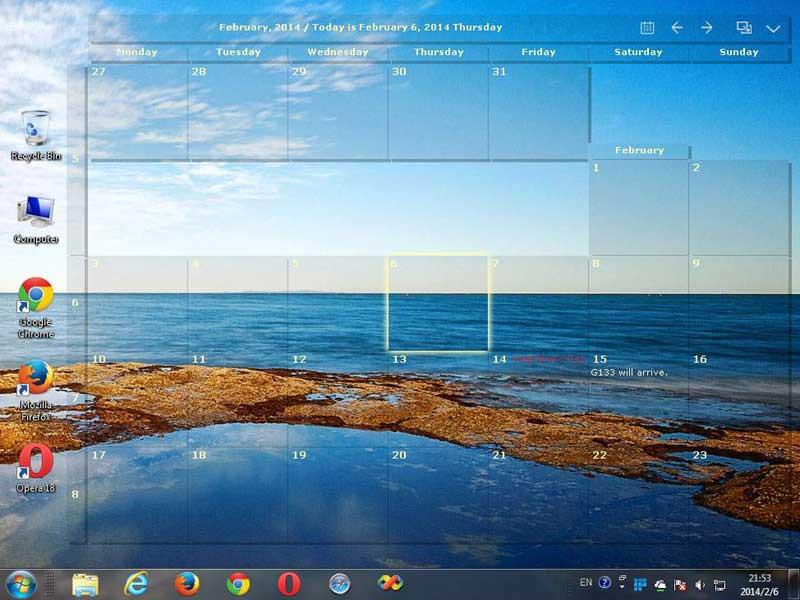 Desktop Calendar Windows 10 : Desktop calendar free download